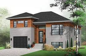 Modern House Plans  Contemporary Home Plans from    Logan Contemporary bedroom Split level house plan  kitchen   large kitchen island and