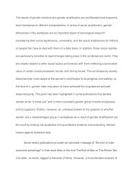 gender issues essay gender stratification sample paper   essay gender stratification