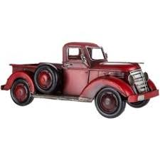 metal wall decor shop hobby: enhance your manly decor with this tabletop red metal truck perfect for displaying in your man cave garage office shop and more this truck features a