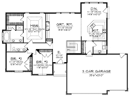 Bedroom House Plans With Basement   Small Ranch House Plans With     Bedroom House Plans With Basement   Small Ranch House Plans With Open Floor Plan