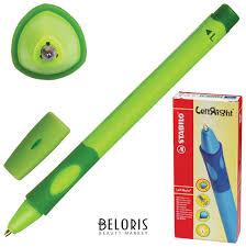 <b>Ручка шариковая</b> с грипом <b>Stabilo Left</b> Right, синяя, для левшей ...