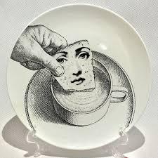 <b>6 Inch</b> Piero <b>Fornasetti Plates</b> Retro Illustration Desk Decorative ...