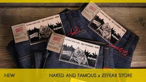Naked and <b>Famous</b> Denim x Zefear store - джинсы из японского ...