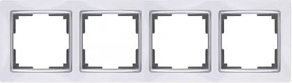 <b>Рамка</b> на 4 поста <b>Werkel Snabb</b> WL03-Frame-04-white (белый ...