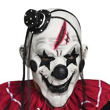 Faroot <b>Deluxe Horrible Scary Clown</b> Mask Adult Men Latex White ...