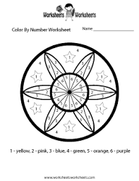 Color By Number Worksheets - Free Printable Worksheets for ...... Color By Number Math Worksheet