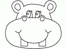 Small Picture Hippo Funny Face Cartoon Coloring Pages Cartoon Drawings Of