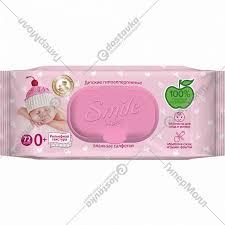 <b>Влажные салфетки</b> «<b>Smile Baby</b>» для новорожденных, 72 шт ...
