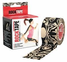 <b>Кинезио-тейп RockTape</b> 5 см х 5 м, тату черный/бежевый цвет ...