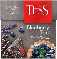 <b>Чай</b> в пирамидках Tess Blueberry Tart, <b>черный</b>, с черникой и ...