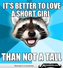 It's better to love a short girl - Memestache via Relatably.com