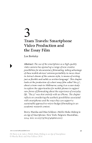 tram travels smartphone video production and the essay film inside