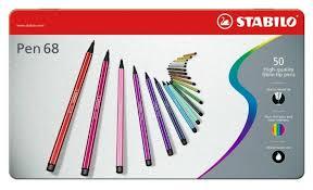 """Купить <b>STABILO Фломастеры</b> """"<b>Pen</b> 68"""" 50 шт. (6850-6) по низкой ..."""