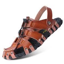 <b>Summer Men</b> Beach <b>Outdoor</b> Casual PU Leather <b>Sandals</b> Shoes ...