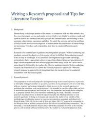What is the role of literature review in a research report