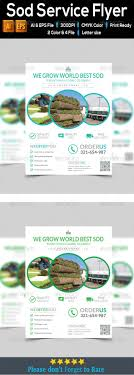 sod service flyer by hthelal graphicriver sod service flyer flyers print templates