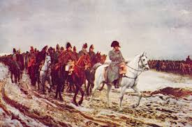 napoleon crowned emperor dec com a 1920 painting depicts napoleon s retreat from moscow
