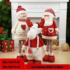 Big Size <b>Christmas Dolls</b> Retractable Santa Claus Snowman Elk ...
