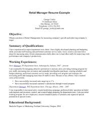 good resume for retail manager equations solver department manager responsibilities resume