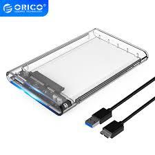 ORICO 2139U3 Hard Drive Enclosure <b>2.5 inch</b> Transparent <b>USB3</b>.<b>0</b> ...