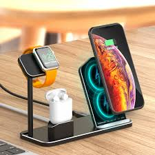 Besegad 3in1 Aluminum Alloy Wireless <b>Charging</b> Holder <b>Dock</b> ...