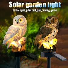 <b>High Quality</b> Outdoor Garden Sculptures Lamp <b>Owl Shape</b> for ...
