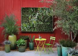 designs outdoor wall art: outdoor wall designs outdoor fresh backyard decoration red fence natural outdoor wall art on wall design