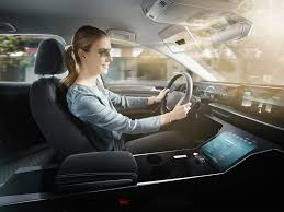 <b>Bosch's new car</b> sun visor uses AI to track your face