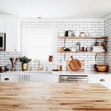 block kitchen open shelving