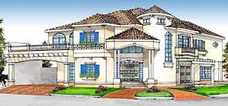 Unique Spanish Mediterranean Home Design  Custom and Stock House    Mediterranean Courtyard Home plan