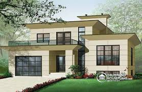 House plan W detail from DrummondHousePlans comfront   BASE MODEL Contemporary bedrooms bathrooms house plan  open floor plan