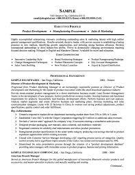 executive summary example resume resume badak product marketing resume example