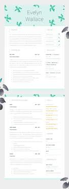best images about resume design layouts high impact resume template two page cv cover letter advice printable for word the fielding creative cv beautifully designed
