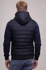 Жилет <b>URBAN CLASSICS</b> Small Bubble Hooded Vest Black/White ...