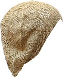 an Beige Beanie Hat <b>Beret</b> Crochet Knit Summer Fall <b>Fashion</b> ...