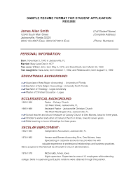 An Example Of A Resume For College
