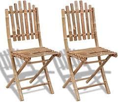 SKM Folding Garden Chairs 2 pcs Bamboo -1498 ... - Amazon.com