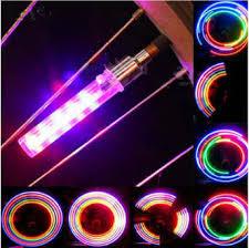 <b>2PCS Bicycle Light 5 LED</b> 8 modes Tire Tyre Valve Caps Wheel ...