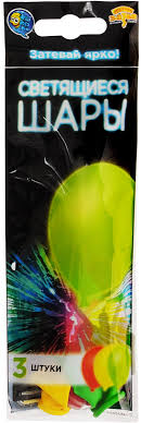 <b>Веселая</b> затея <b>Набор воздушных шариков</b> с подсветкой 3 шт ...