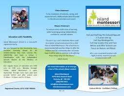 brochure island montessori school brochure