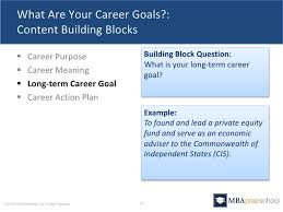 five questions you must answer in your mba application 16 18 what are your career goals
