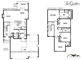 Small Double Storey House Plans Architecture    toobe Architecture The Quattro Two Story Floorplan Deisgn With Huge Carsport And Unqiue Desig The First And