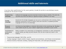 Resume Hobbies And Interests Examples 7 8 Mckinsey Resume Sample 8 ... hobbies ...