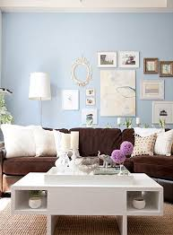 furniture living room wall: love the blue wall with the nuetrals with the purple freshen up your old brown blue living roomsliving room