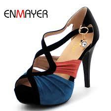 <b>ENMAYER Arrivals</b> Fashion Women Shoes High Heel Platform ...