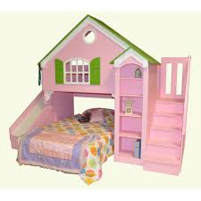doll house bunk bed shown with optional slide and staircase 11 affordable mid century modern furniture affordable dollhouse furniture