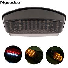 <b>Mgoodoo</b> Smoked <b>Motorcycle LED</b> Brake Tail Light Tailight Turn ...