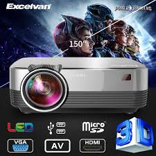 <b>Excelvan Q6 Upgraded</b> 4Inch Mini Portable <b>1800</b> Lumens Touch ...