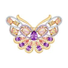 <b>Брошь</b>-<b>бабочка</b> из золота <b>SOKOLOV</b> – купить в официальном ...