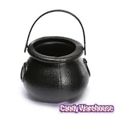 Plastic 2-Inch Black Kettles: <b>12</b>-<b>Piece Pack</b>   CandyWarehouse.com